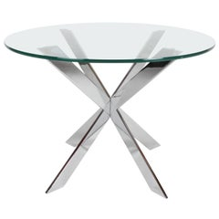 Leo Rosen for Pace Collection Modernist Architectural X-Base Side Table