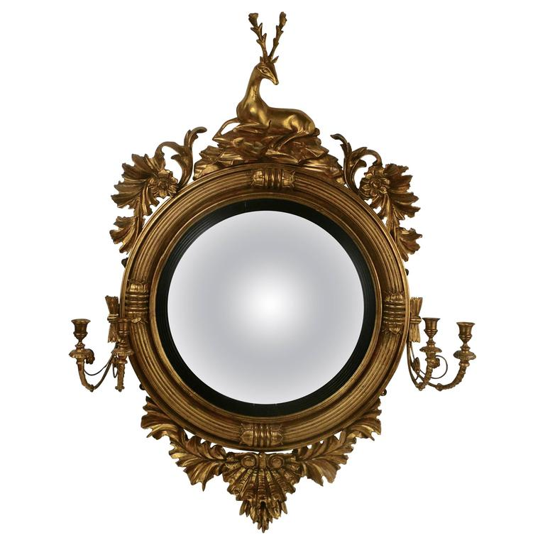 English regency convex mirror by thomas fentham and co for Convex mirror for home
