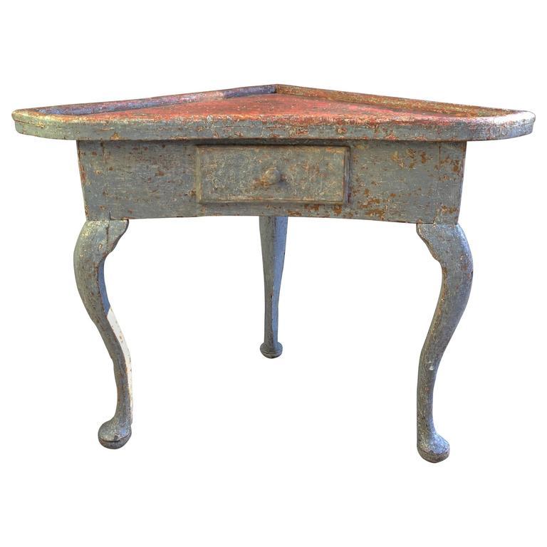 19th Century Swedish Corner Table