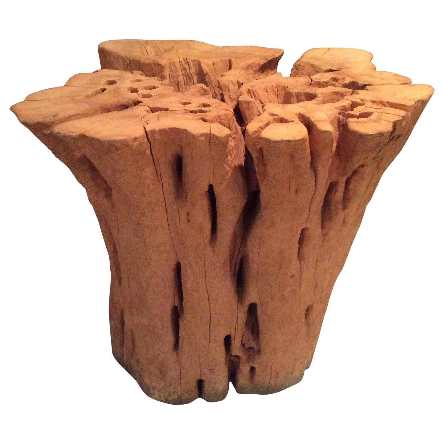 Cypress Driftwood Tree Base Trunk Dining Game Table Round