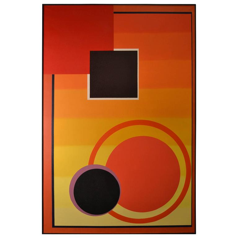 Michel Magne Abstract Canvas