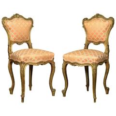 Pair of Louis XVL Style Giltwood Side