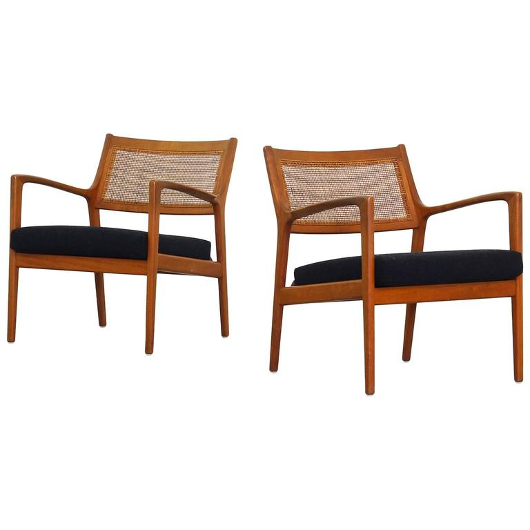 Pair of Lounge Chairs by Karl Erik Ekselius for JOC Mobler Sweden