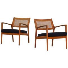 Pair of Lounge Chairs by Karl Erik Ekselius for JOC Mobler Sweden