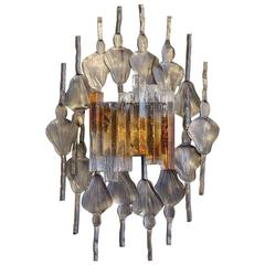 Tom Ahlstrom and Hans Ehrich Brutalist Midcentury Wall Sconce, A and E Leuchten