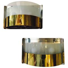Pair of Romeo Rega Style Sconces