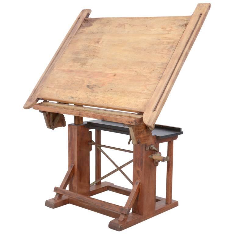 Hydraulic Drafting Table Swedish Adjustable