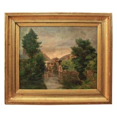 Georges Henri Bilhaut 'Small Hamlet before a Storm'