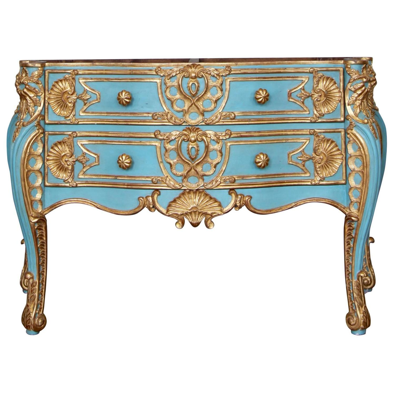 italian baroque style giltwood commode reproduced by la maison london for sale at 1stdibs. Black Bedroom Furniture Sets. Home Design Ideas