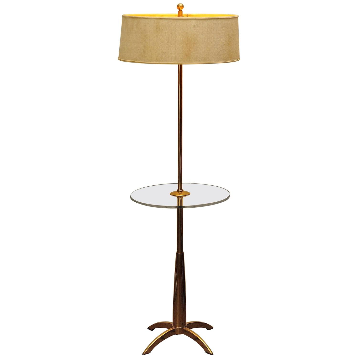brass and acrylic stiffel mid century modern floor lamp. Black Bedroom Furniture Sets. Home Design Ideas