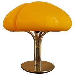 Gae Aulenti Quadrifoglio Table Lamp in Canary Yellow