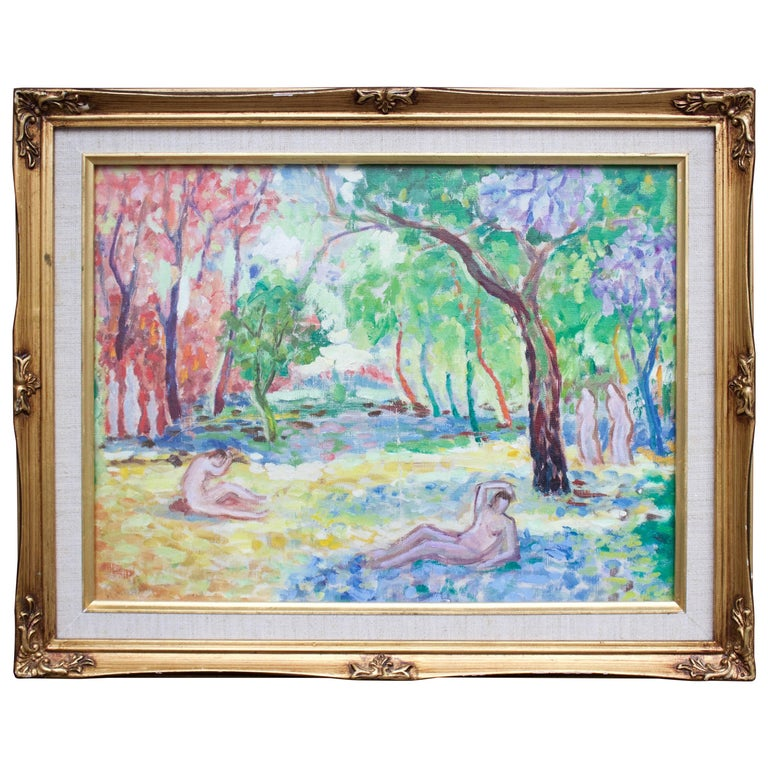 Unusual Impressionist Study by Edna Reindel For Sale