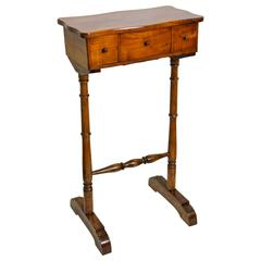 Biedermeier Sewing Side Table Cherrywood, Austria circa 1850