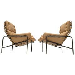 Martin Visser Leather SZ09 Nagoya Easy Chairs World Expo 1970 Japan 't Spectrum