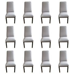 12 Mastercraft Dining Room Chairs with Bronze Finished Legs