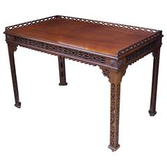 19th Century Chinese Chippendale St. Mahogany Table