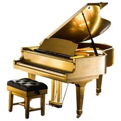 Bespoke Metal Coated Kawai RX-3 Grand Piano and Leather Concert Stool