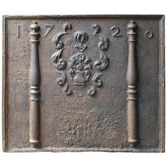 Magnificent French 'Coat of Arms' Fireback, Dated 1720
