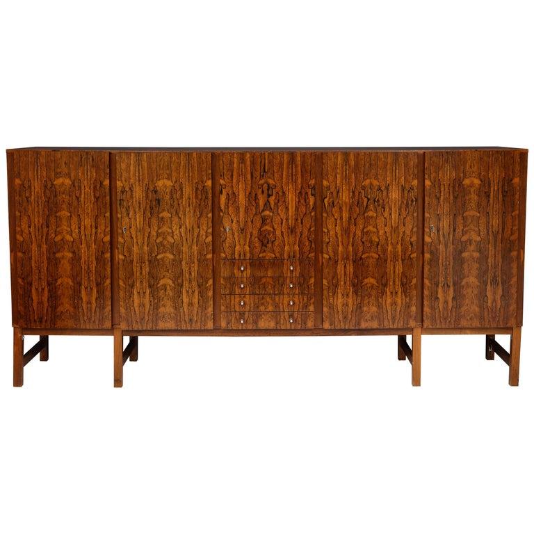 Mid-Century Modern Monumental Danish Rosewood Sideboard Highboard Cabinet Midcentury, 1960s For Sale