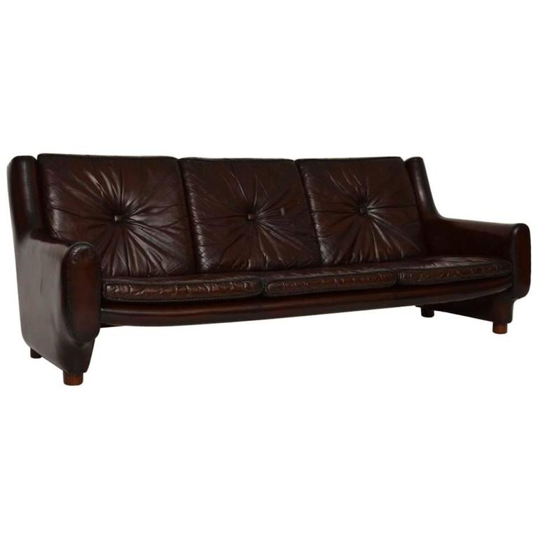 Leather Retro Sofa Buttons Vintage 3