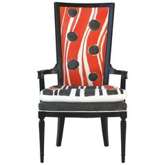 Hand-Painted High Back Arm or Dining Chair