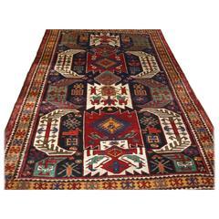 Antique Caucasian Kasim Ushak or Lenkoran Region Rug, Superb Colour, circa 1900