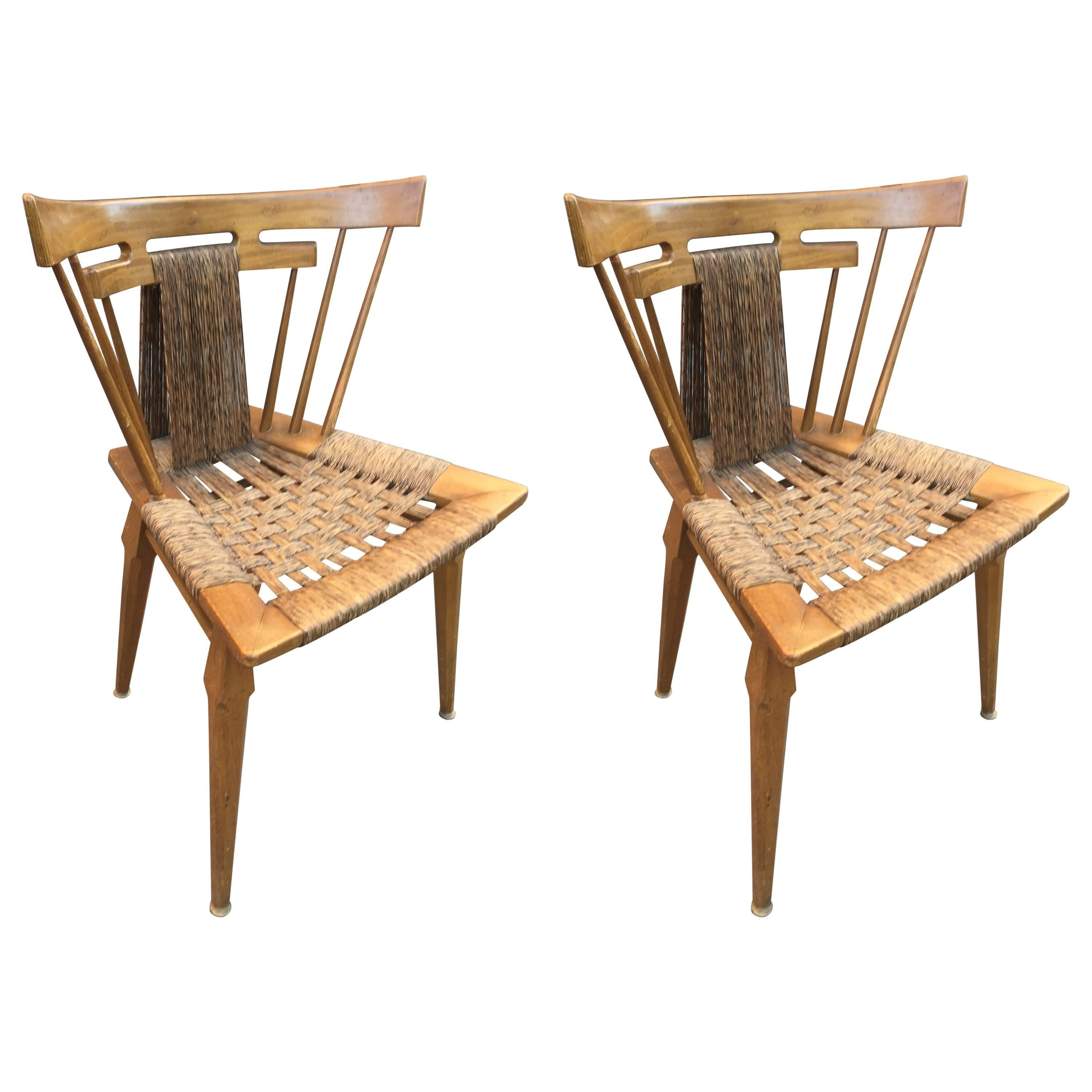 """Pair of Edmond Spence Mexican 'Yucatan"""" chairs"""
