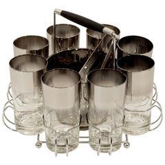 Queens Lusterware Tumbler and Ice Bucket Set