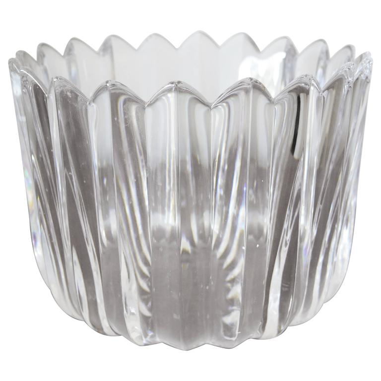 "Orrefors ""Crown"" Heavy Crystal Bowl 1"