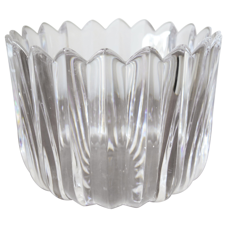 """Orrefors """"Crown"""" Heavy Crystal Bowl"""