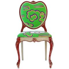 Hand-Painted Victorian Style Heart Chair