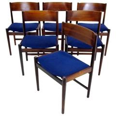 Set of Six Rosewood Chairs by Arne Vodder for Sibast Furniture
