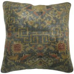 Sea Foam Chinese Rug Pillow