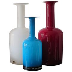 Glass Bottle Vases by Kastrup Holegaard