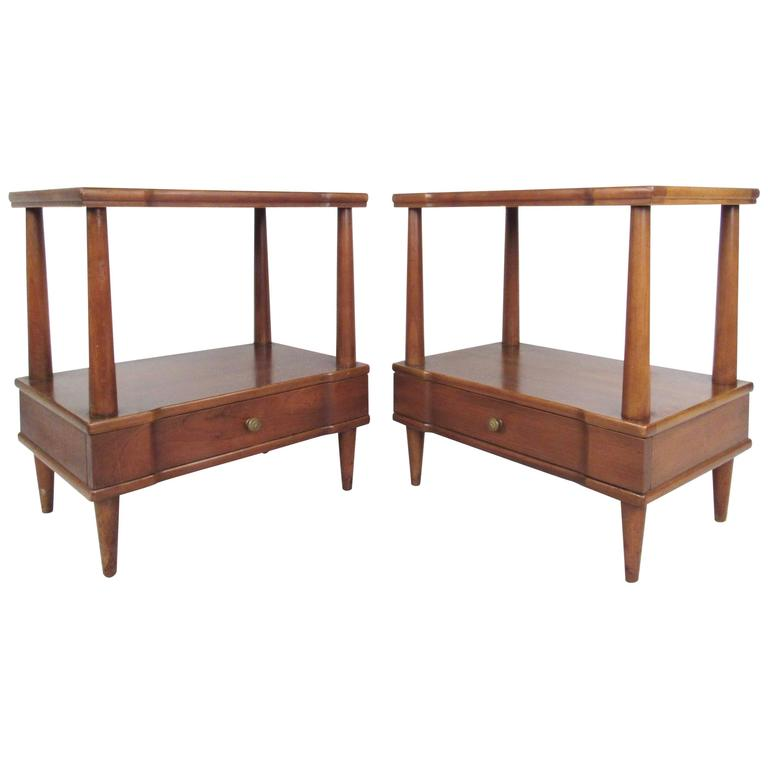 Pair John Widdicomb End Tables