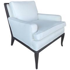 Mid-Century Modern Robsjohn-Gibbings Walnut Club Chair in Linen