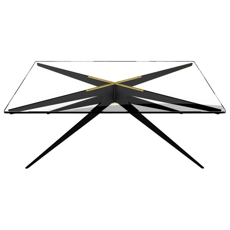 DEAN Regular Coffee Table in Customizable Finishes For Sale