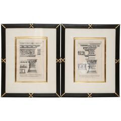 Pair of Antique Architectural Prints, Antoine Babuty Desgodetz, circa 1682