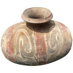 Chinese Ancient Finely Painted Pottery Oil Cocoon Jar 2000 Years Old