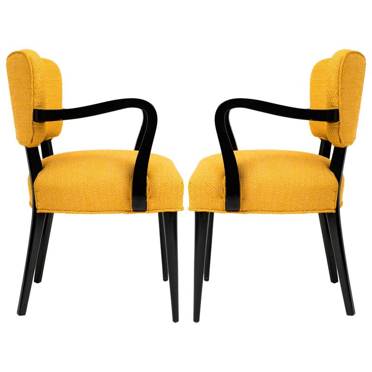 Pair of 1960s Modern Armchairs or Side Chairs in the Manner of Gilbert Rohde For Sale