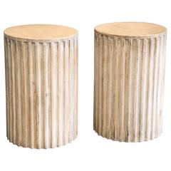 Pair of Fluted Column Tables