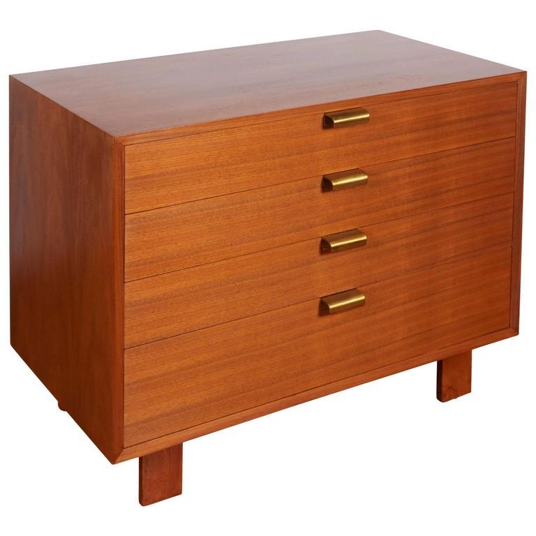 George Nelson Walnut Dresser for Herman Miller