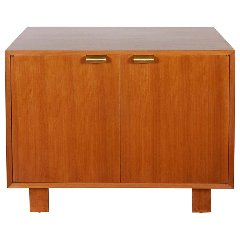 George Nelson Two-Door Walnut Cabinet for Herman Miller For Sale