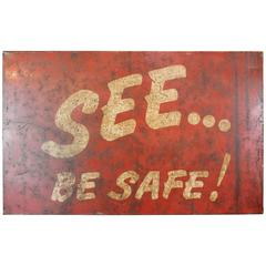 Iron Factory Safety Sign