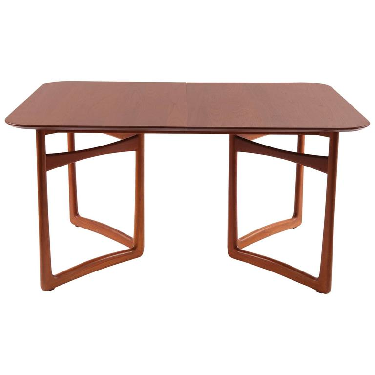 Teak and Brass Dining Table by Hvidt and Nielsen