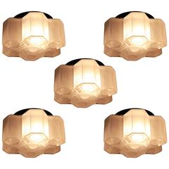 Set of Five Flush Mount Ceiling Light by RAAK