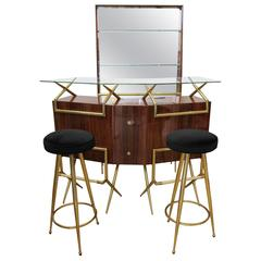 Mid-Century Modern Italian Bar Suite in the Style of Gio Ponti