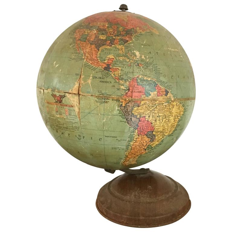Globes For Sale >> Vintage Replogle 10 Inch Globe Circa 1940