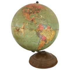 Vintage Replogle 10-Inch Globe, circa 1940