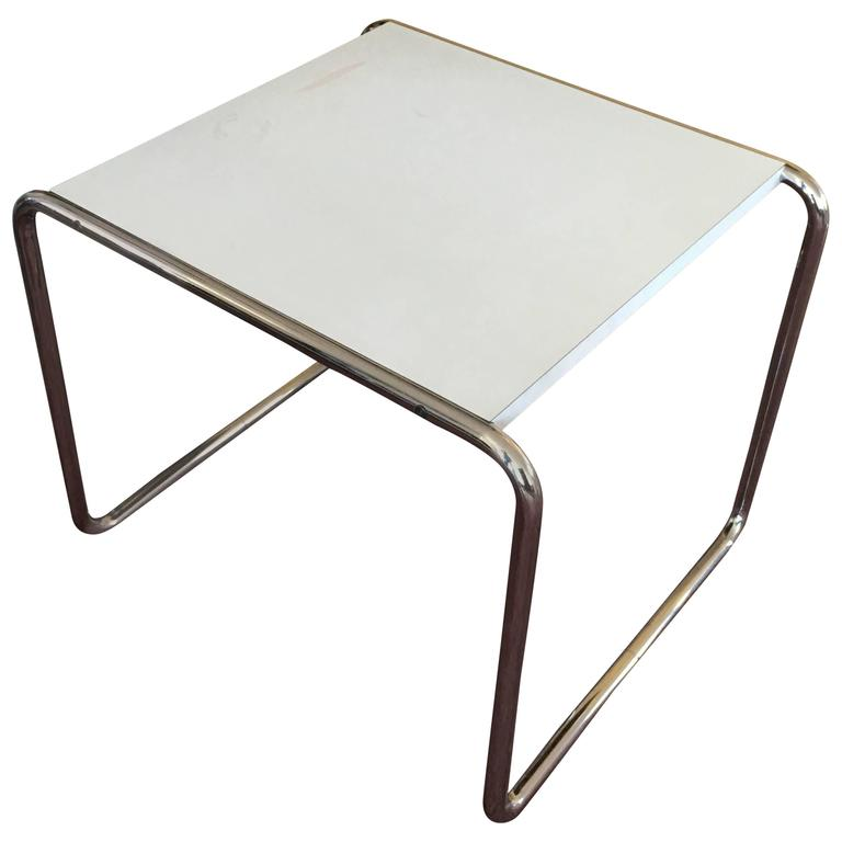 marcel breuer laccio side table for knoll at 1stdibs. Black Bedroom Furniture Sets. Home Design Ideas